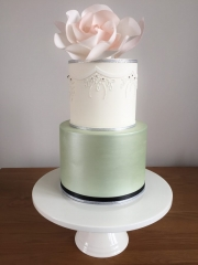 Floral Two Tiered Celebration Cake